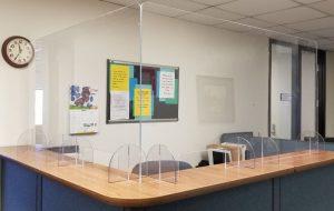 desk top portable covid safety shields - oklahoma city - knox glass