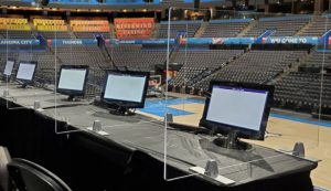 chesapeake arena table top acrylic covid shields_knox glass company